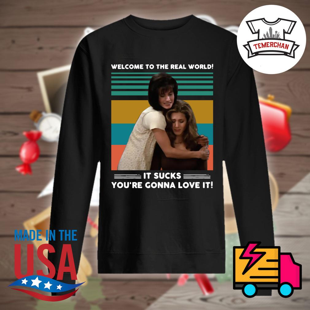 Welcome to the real world it sucks you're gonna love it Vintage s Sweater