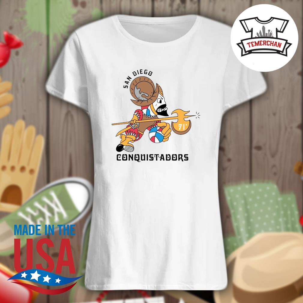 1972 San Diego Conquistadors s Ladies t-shirt