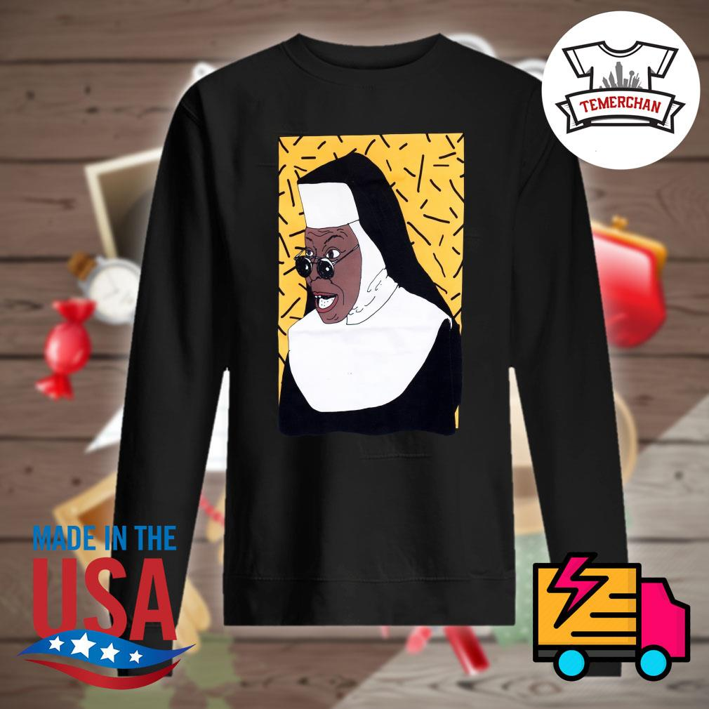 Whoopi Goldberg Nun 90s Illustrated s Sweater