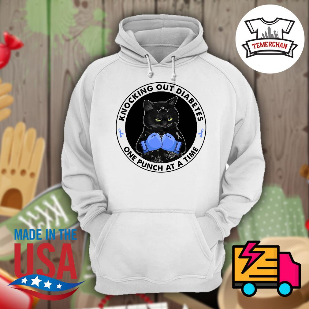 Back cat knocking out diabetes one punch at a time s Hoodie