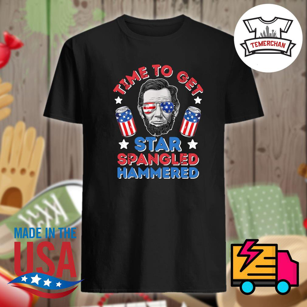 Time to get star spangled hammered 4th of July shirt