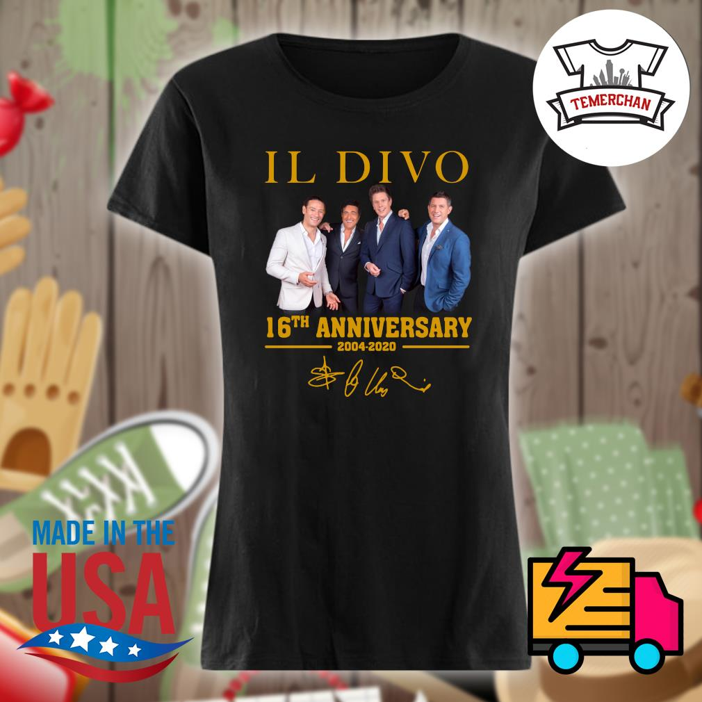 Il Divo 16th 2004-2020 anniversary s Ladies t-shirt