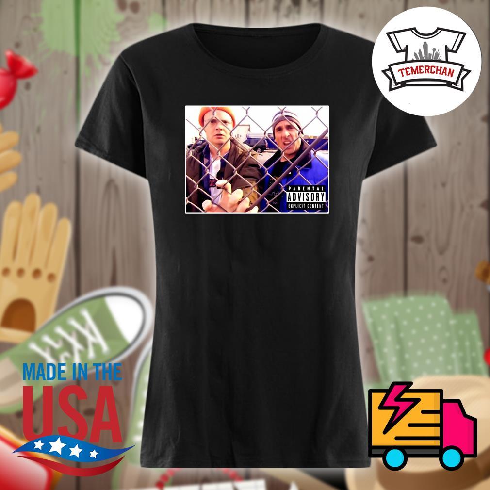 Lazy Scranton Parental Advisory s Ladies t-shirt