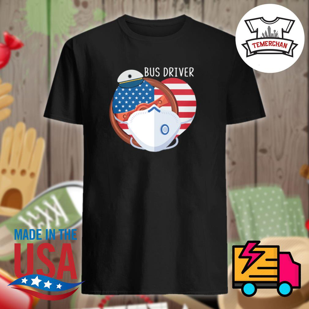 Nurse heart Bus driver shirt