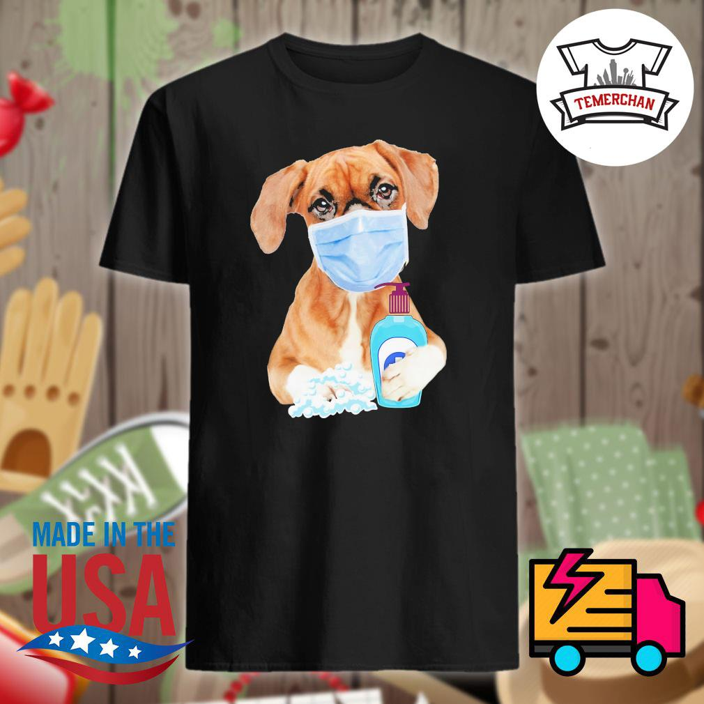 Boxer wash your hand shirt