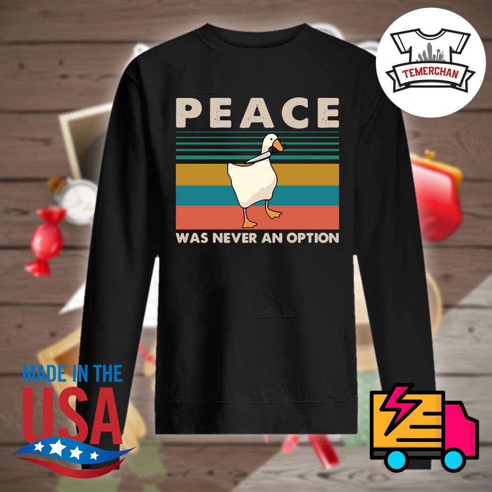 Duck Peace was never an option vintage s Sweater