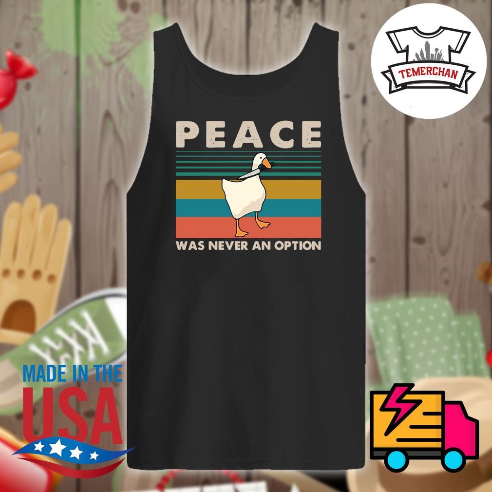 Duck Peace was never an option vintage s Tank-top