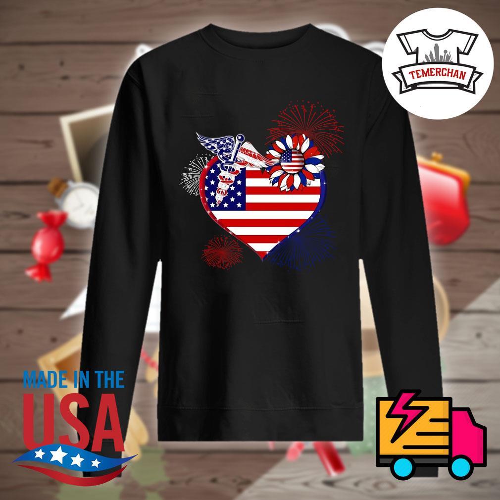 Nurse USA sunflower in my heart s Sweater
