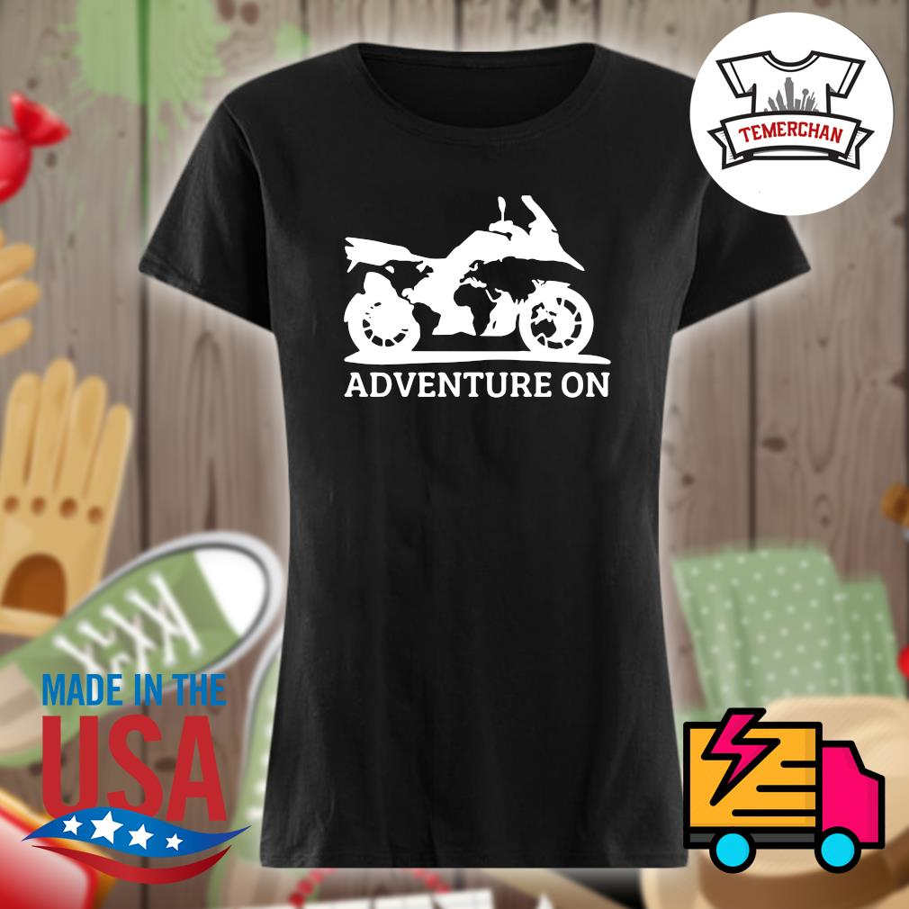 Motor Adventure on s Ladies t-shirt