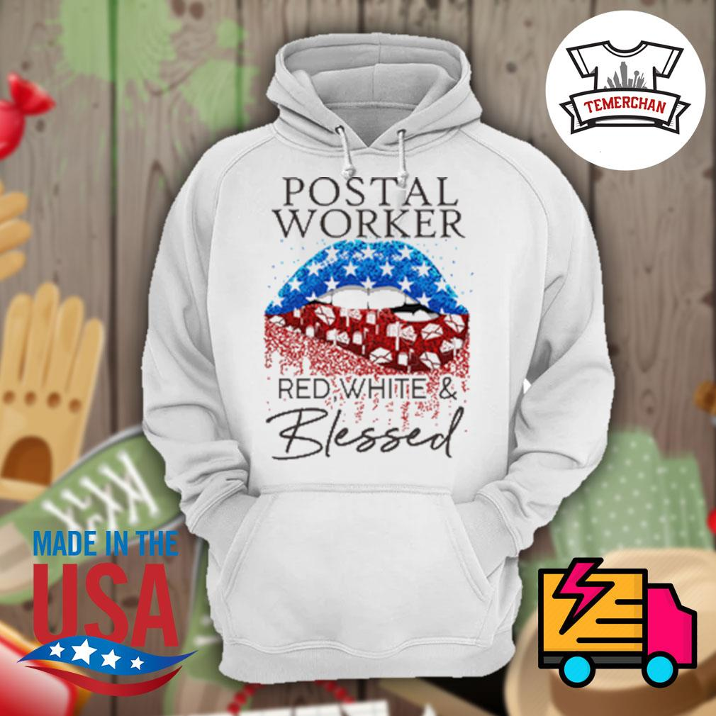 Postal worker red white and blessed s Hoodie