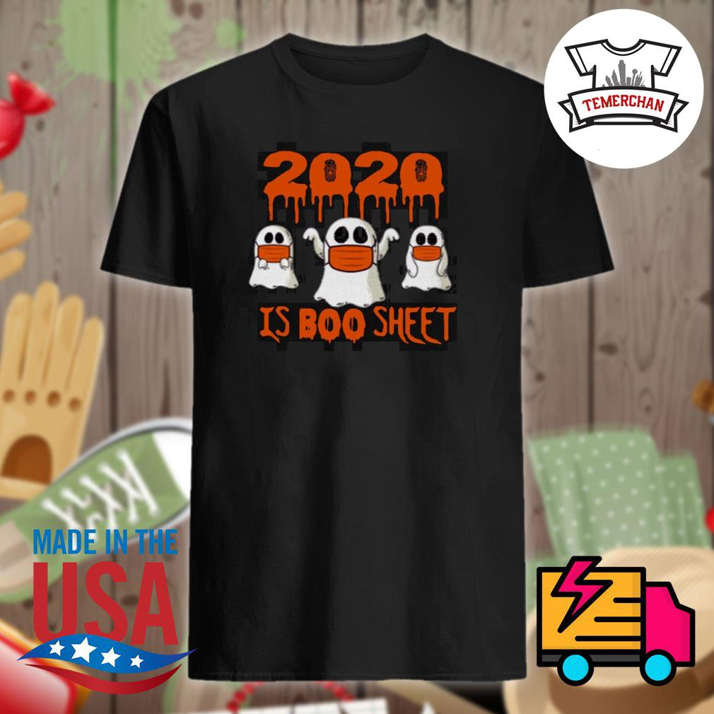 2020 is Boo sheet face mask Halloween shirt