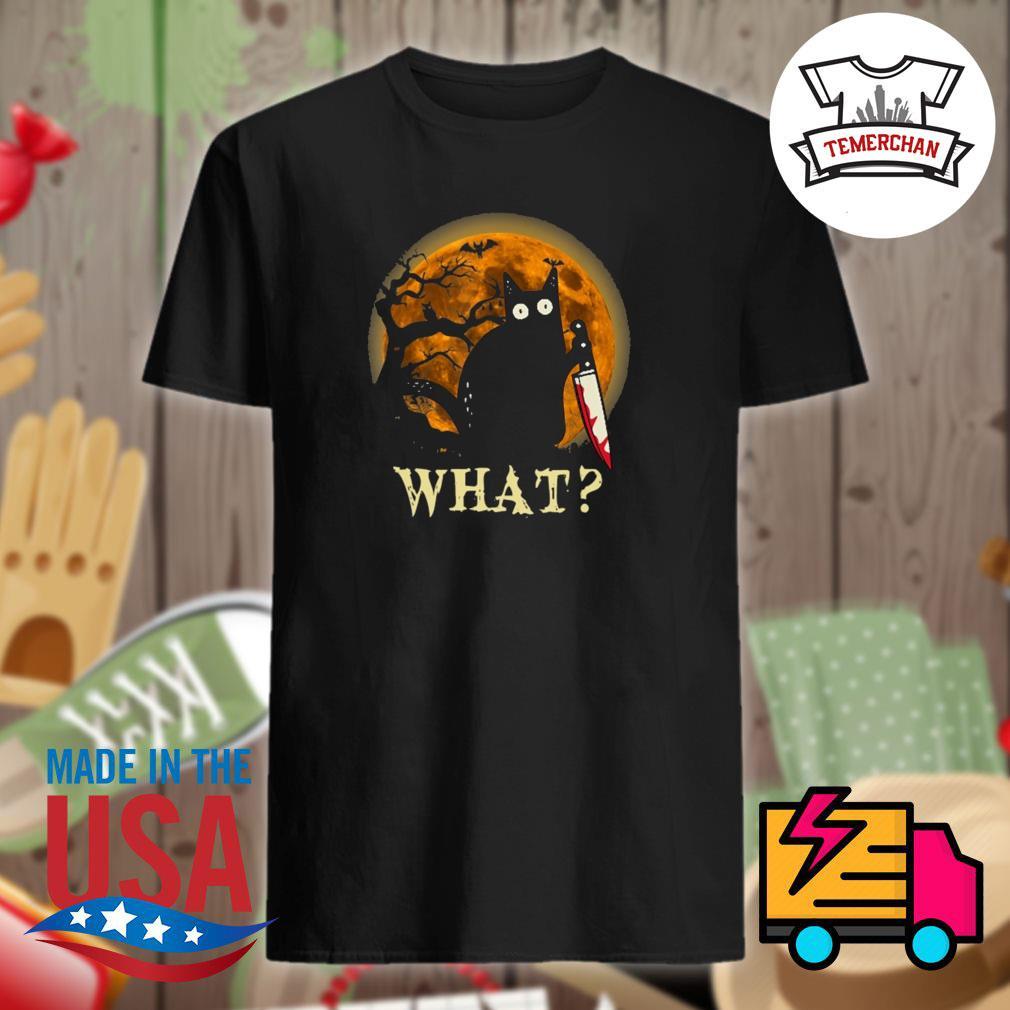 Black cat Michael myers what Halloween shirt