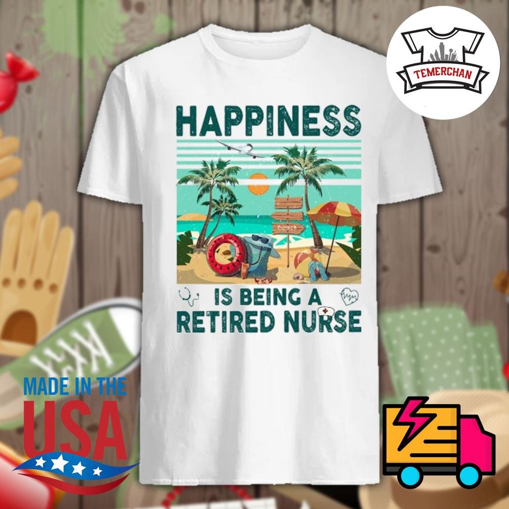 Camping happiness is being a retired nurse vintage shirt