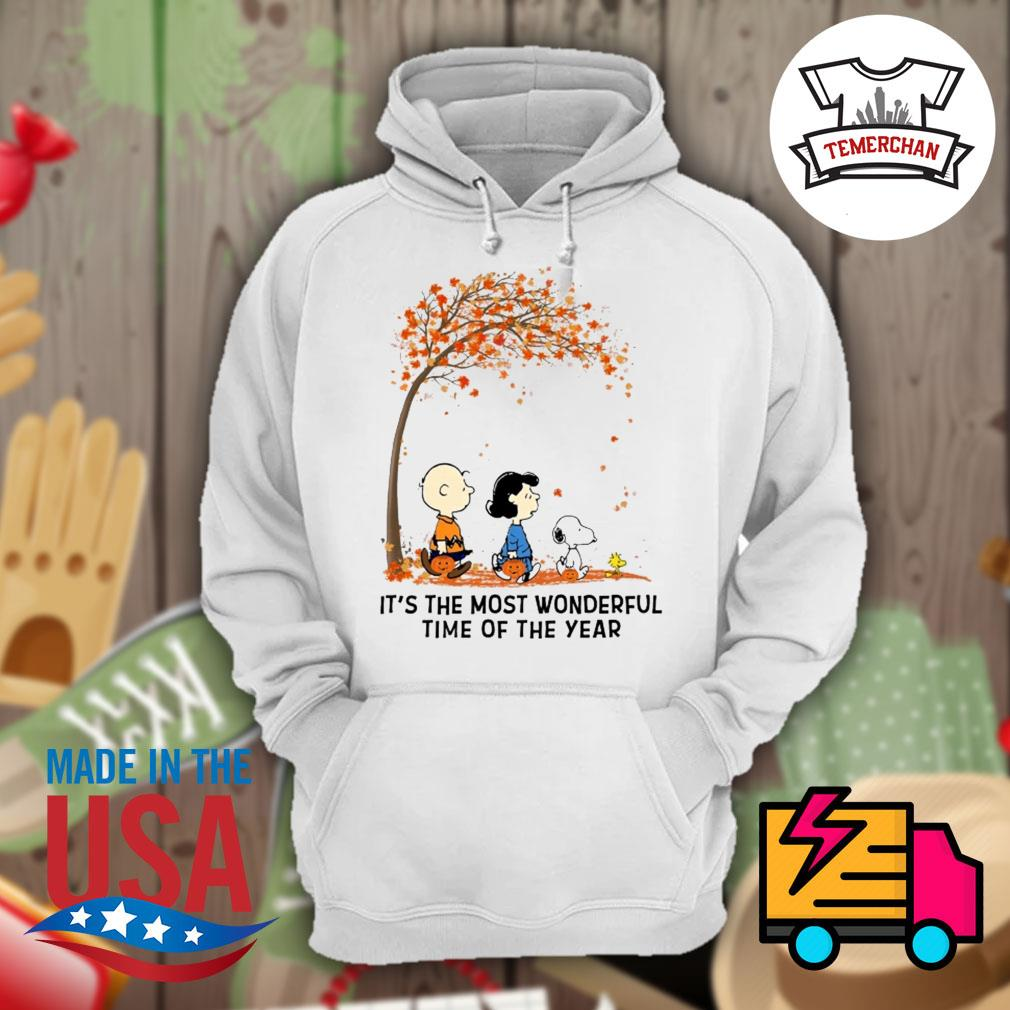 Charlie Brown Lucy Snoopy and Woodstock it's the most wonderful time of the year Halloween tree s Hoodie