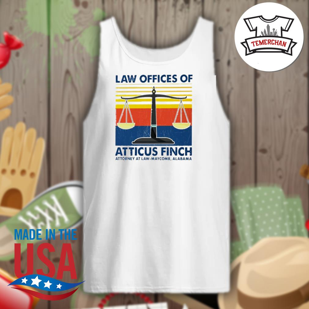 Law offices of atticus finch attorney at law maycomb Alabama vintage s Tank-top