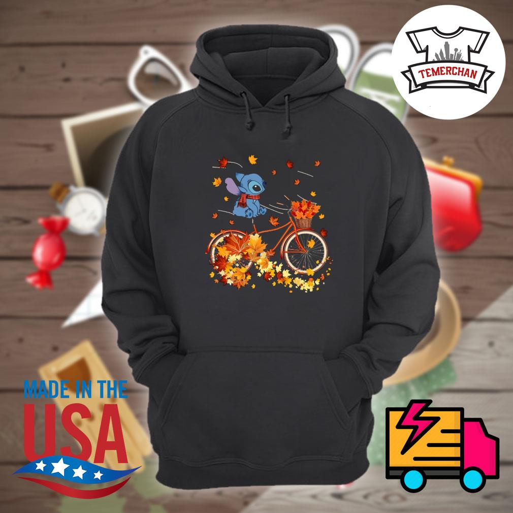 Stitch riding bicycle autumn vibes s Hoodie
