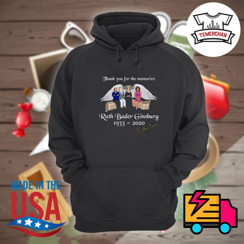 Thank you for the memories Ruth Bader Ginsburg 1933 2020 signature s Hoodie