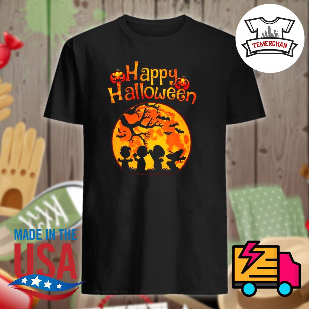 The Peanuts pumpkin moon happy Halloween shirt