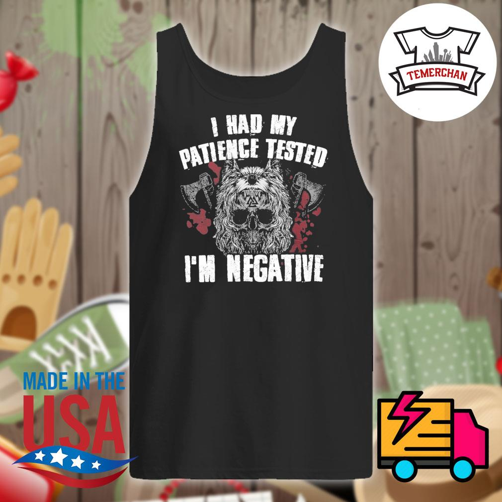 Viking norse gym I had my patience tested I'm negative s Tank-top
