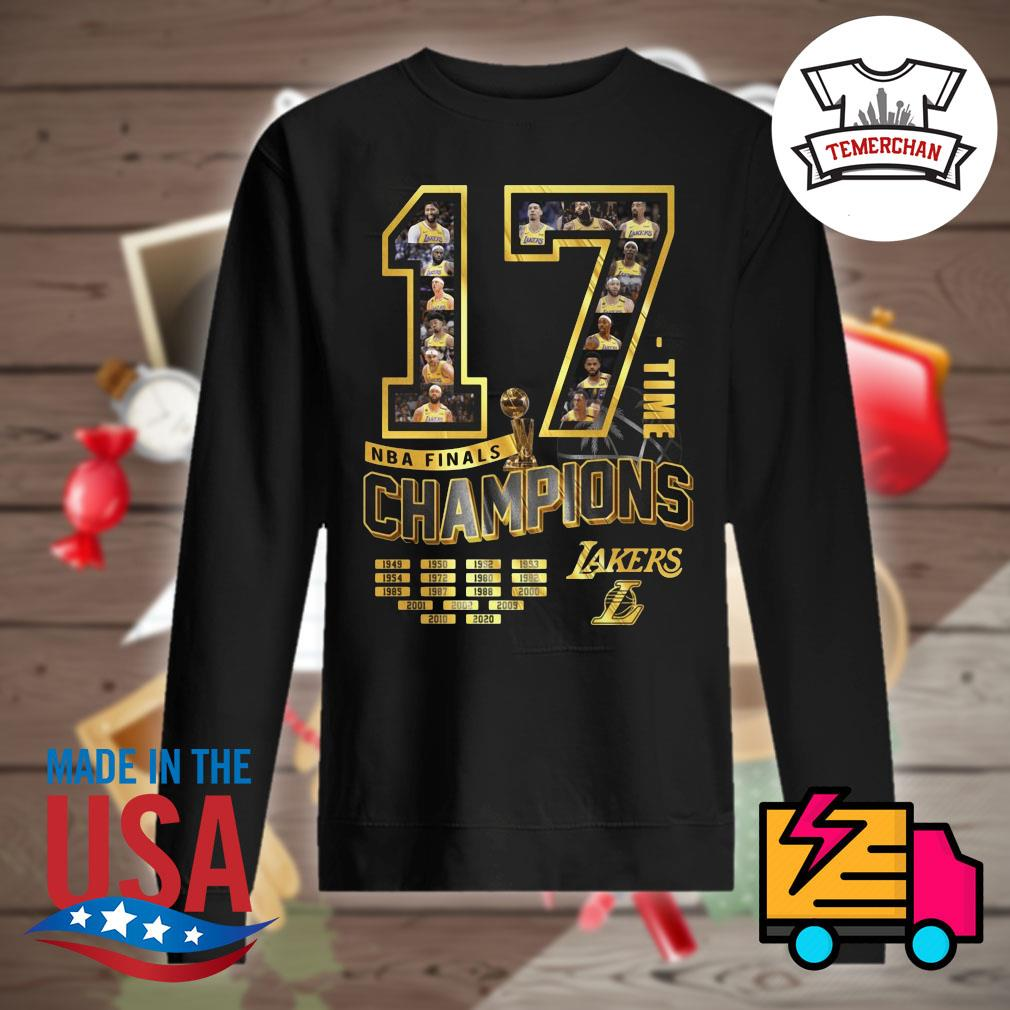 17 time NBA finals Champions Los Angeles Lakers s Sweater