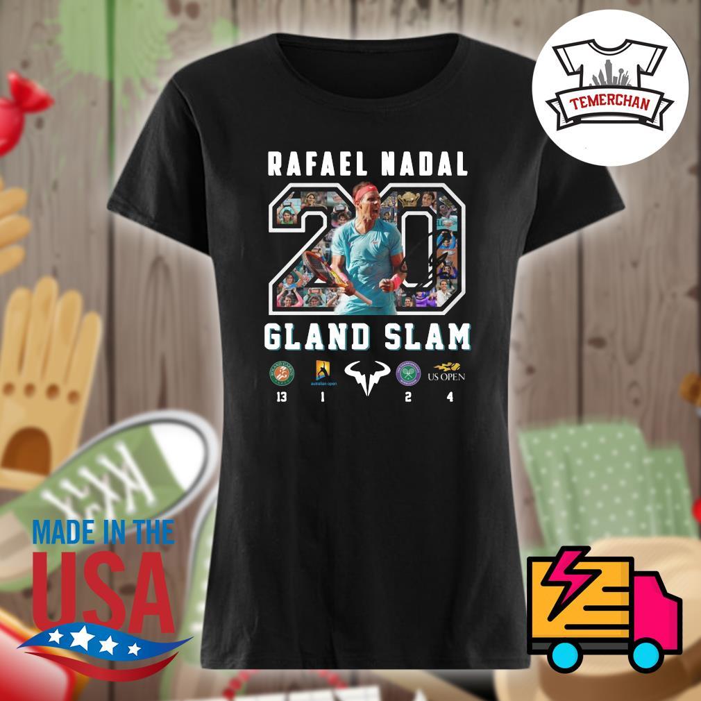 20 Rafael Nadal Gland Slam s Ladies t-shirt