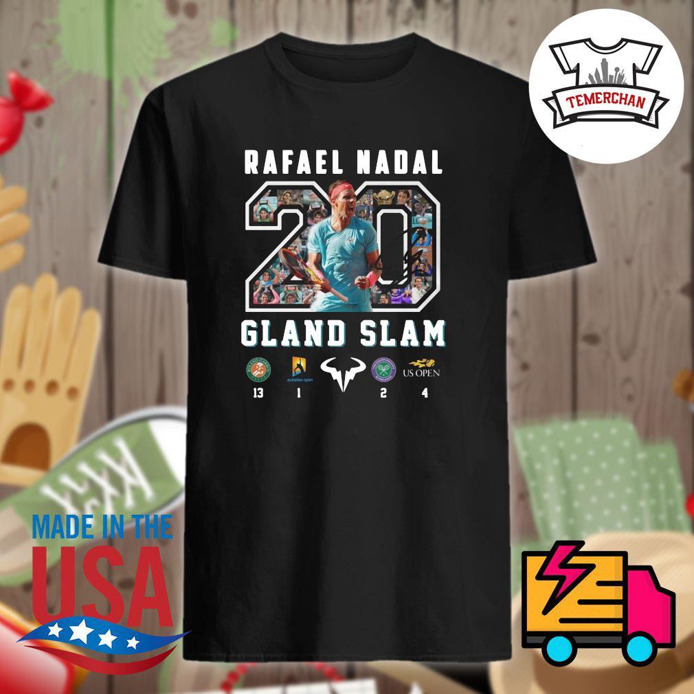 20 Rafael Nadal Gland Slam shirt