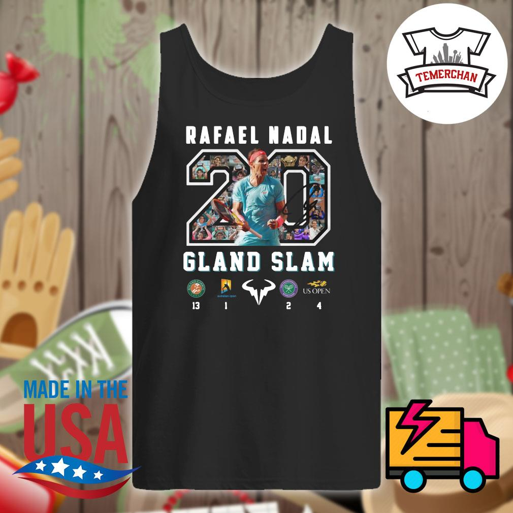 20 Rafael Nadal Gland Slam s Tank-top