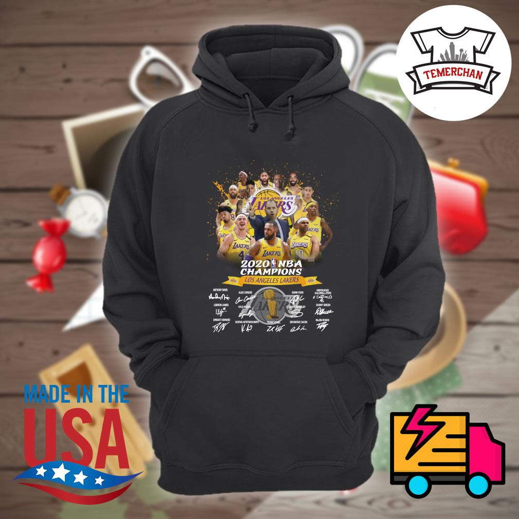 2020 NBA Champions Los Angeles Lakers players signatures s Hoodie