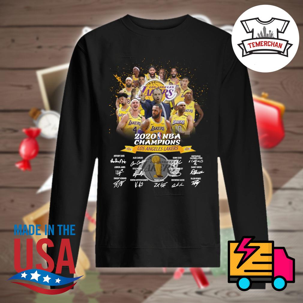 2020 NBA Champions Los Angeles Lakers players signatures s Sweater