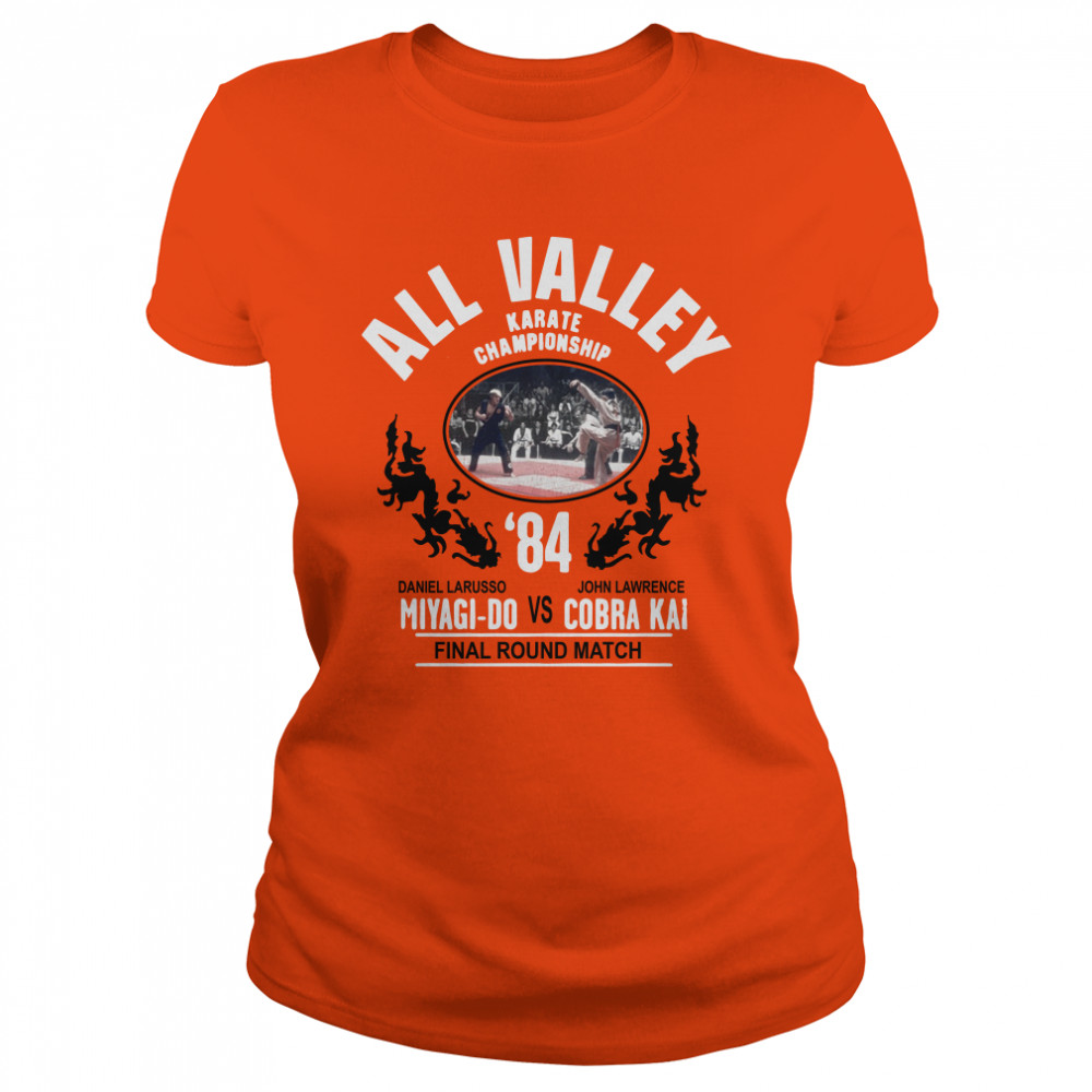 All Valley Karate Championship '84 Miyagi-Do vs Cobra Kai final round match Ladies t-shirt