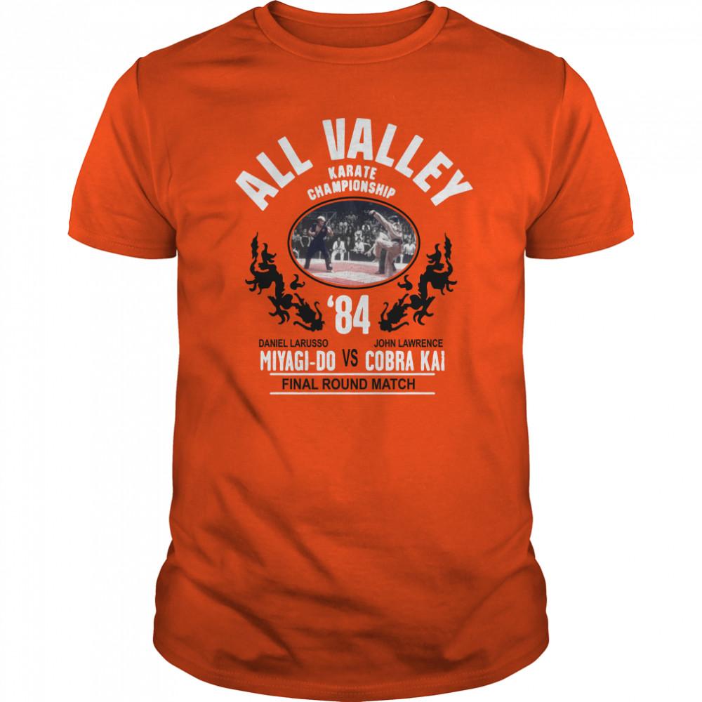 All Valley Karate Championship '84 Miyagi-Do vs Cobra Kai final round match shirt