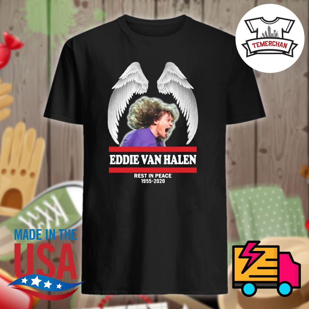 Angel wings Eddie Van Halen rest in peace 1955 2020 Rip shirt