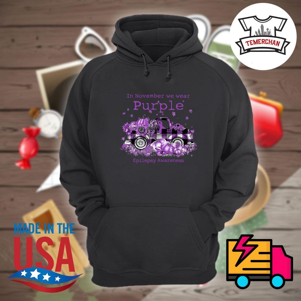 Car In November we wear purple epilepsy awareness s Hoodie