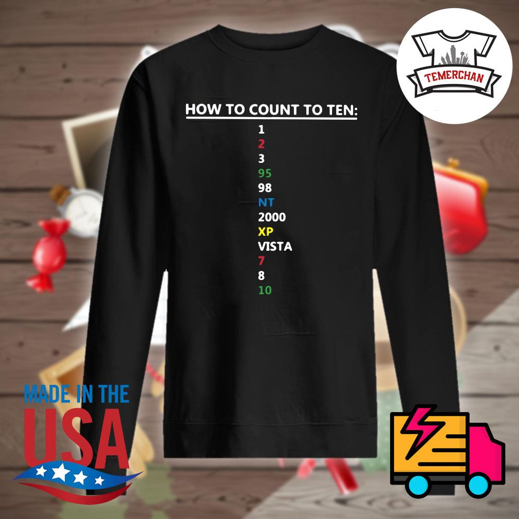 Computer Geek how to count to ten s Sweater