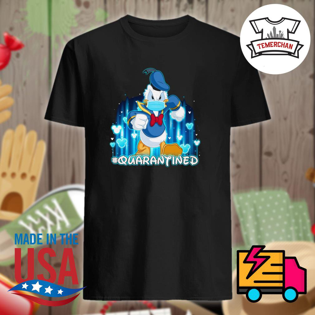 Disney Donald duck face mask quarantined shirt
