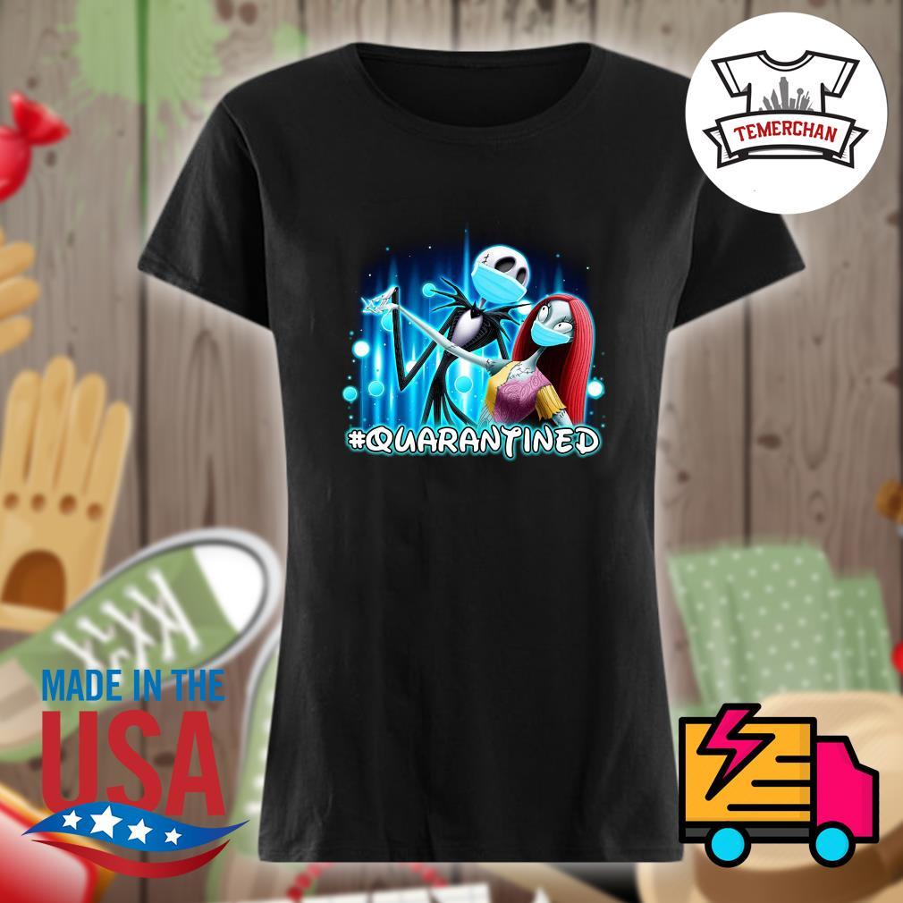 Disney Jack Skellington and Sally face mask quarantined s Ladies t-shirt