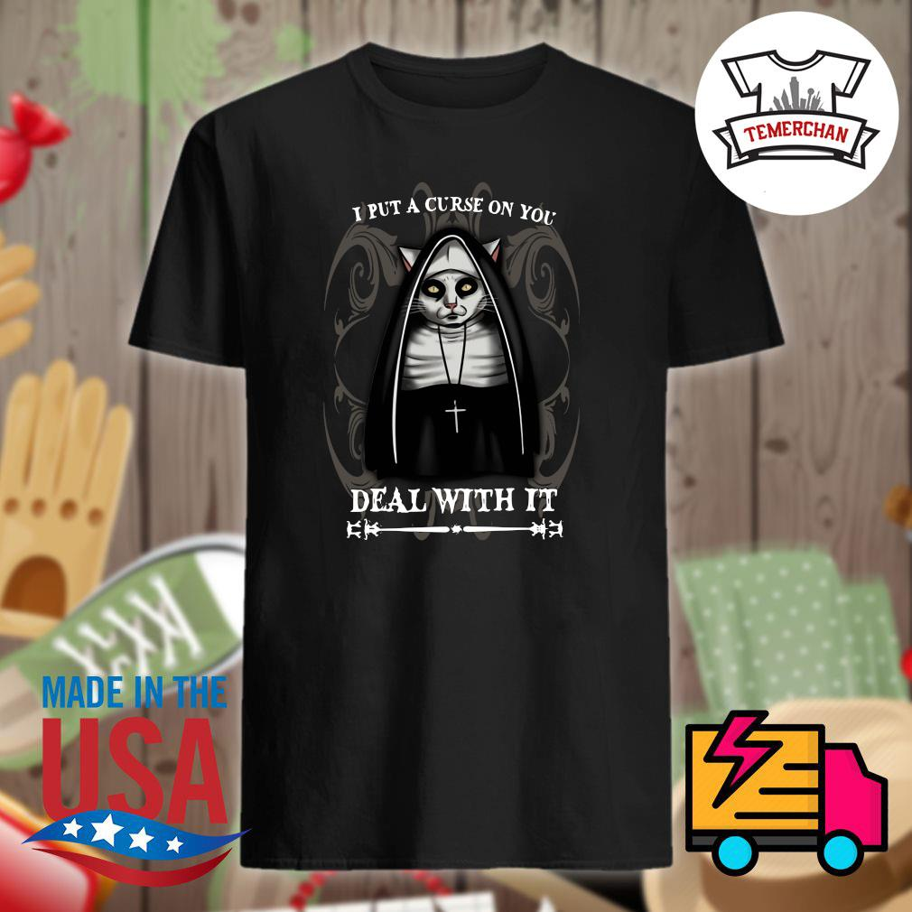 Gothic Cat I put a curse on you deal with it shirt