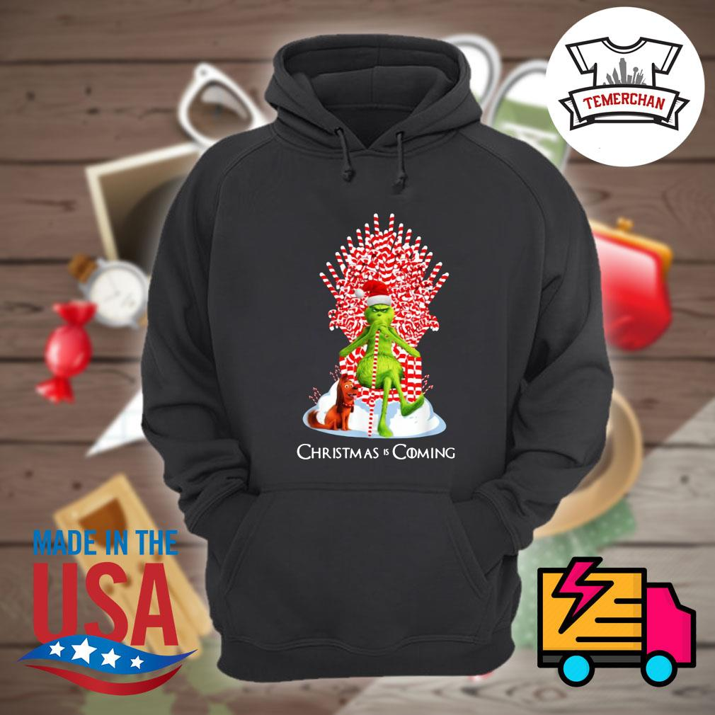 Grinch and Guard Dog Scene Christmas is coming s Hoodie
