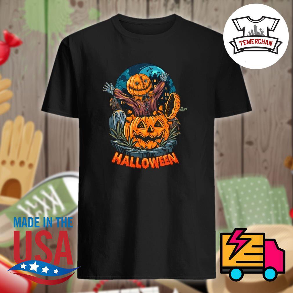 Pumpkin zombie Halloween shirt