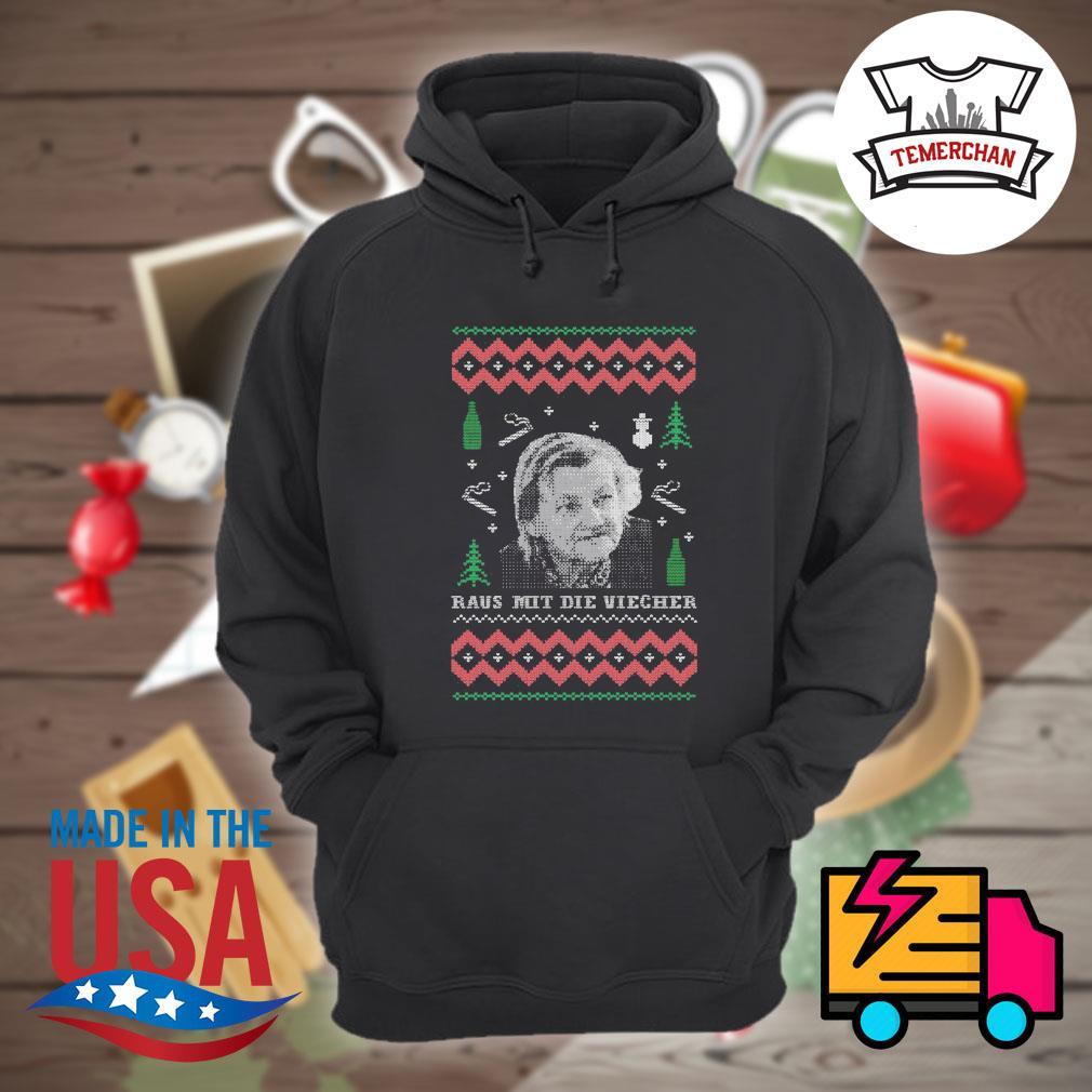 Raus mit die viecher ugly Christmas sweater Hoodie