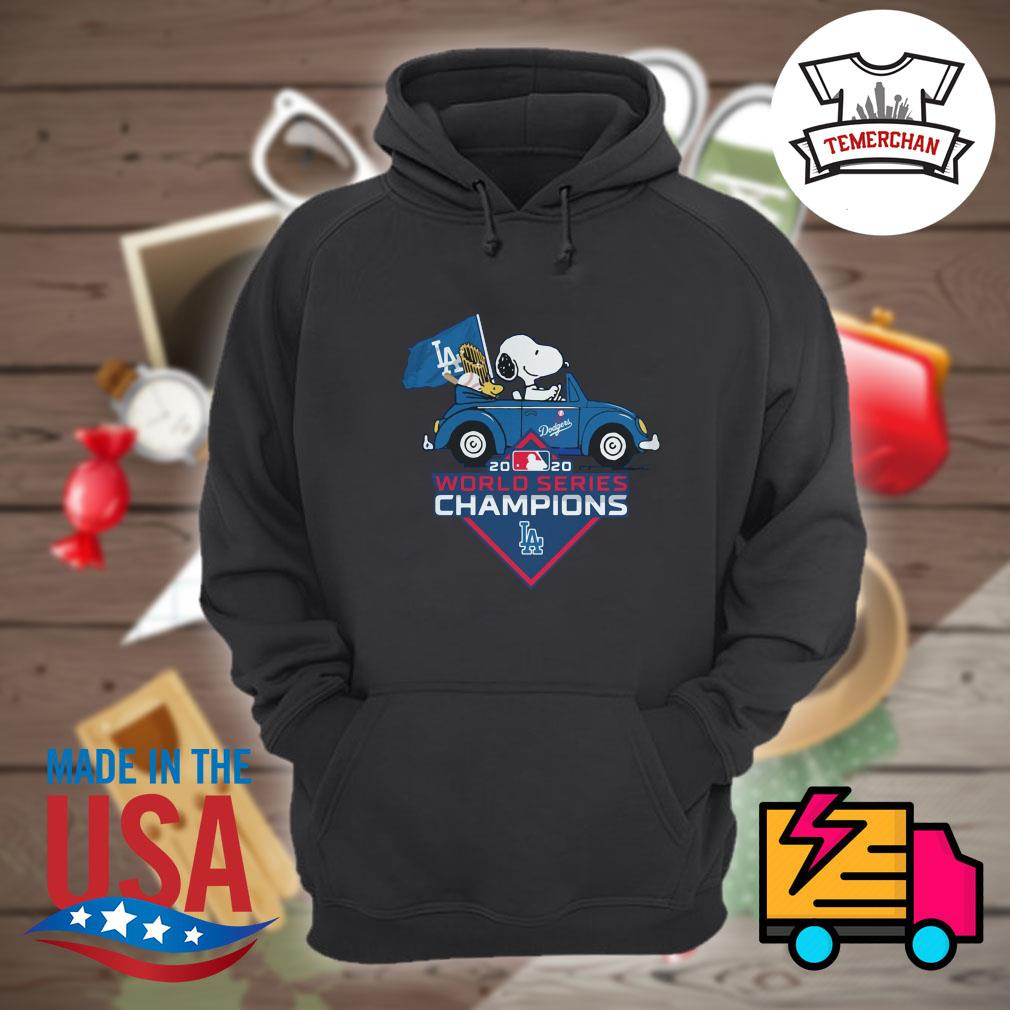Snoopy and woodstock drive car Los Angeles Dodgers 2020 world series Champions s Hoodie