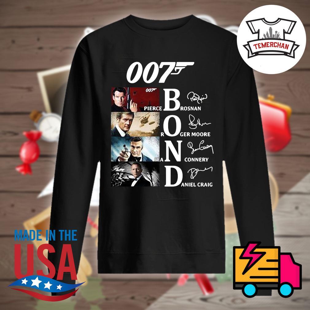 007 Bond Pierce Brosnan Roger Moore Sean Connery Daniel Craig signatures s Sweater