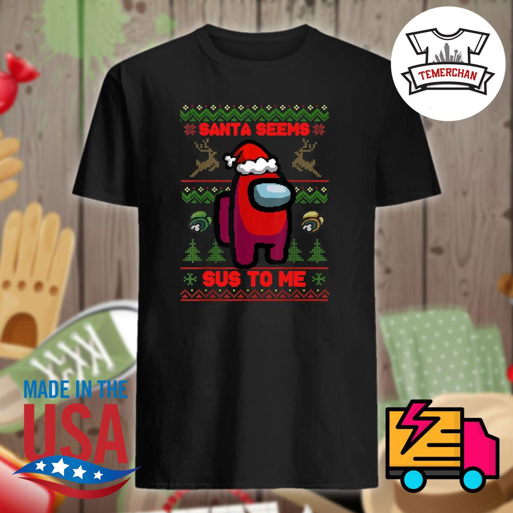 Among Us Santa seems Sus to me ugly Christmas sweater