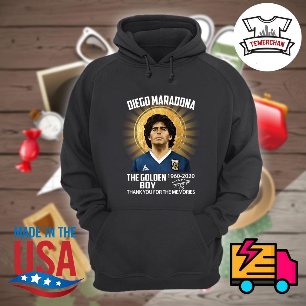 Diego Maradona the Golden Boy 1960 2020 signature thank you for the memories s Hoodie