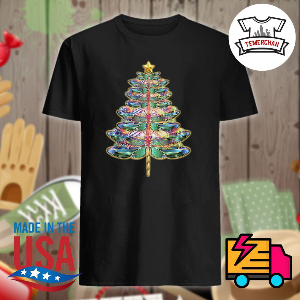 Dragonfly Star Christmas tree shirt