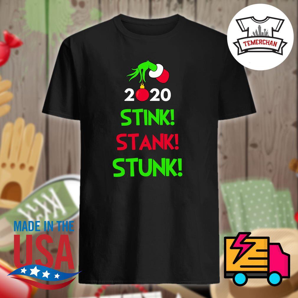 Grinch hand 2020 stink stank stunk Christmas shirt