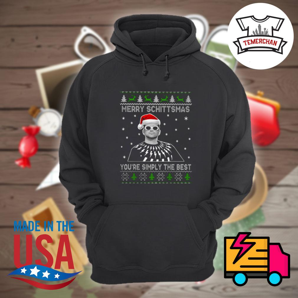 Merry Schittsmas you're simply the best ugly Christmas sweater Hoodie