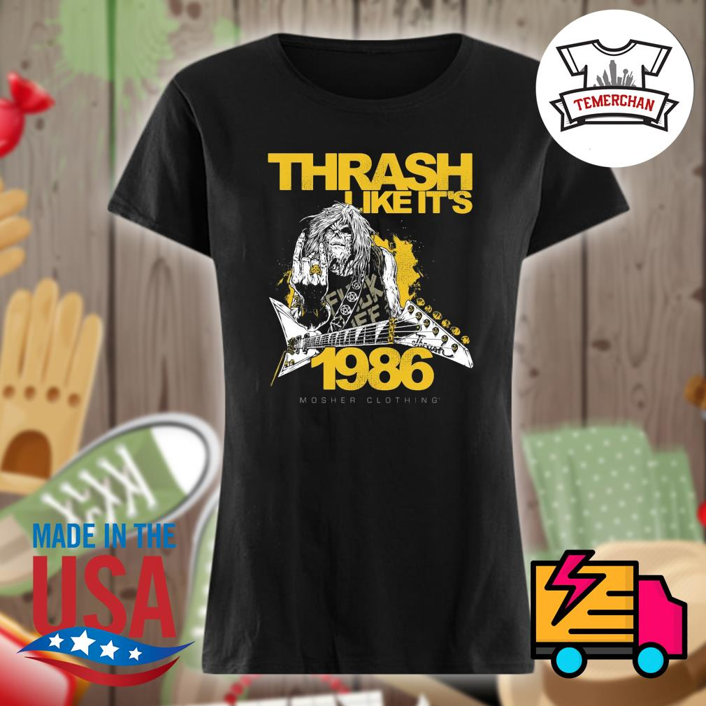 Thrash like it's 1986 s Ladies t-shirt