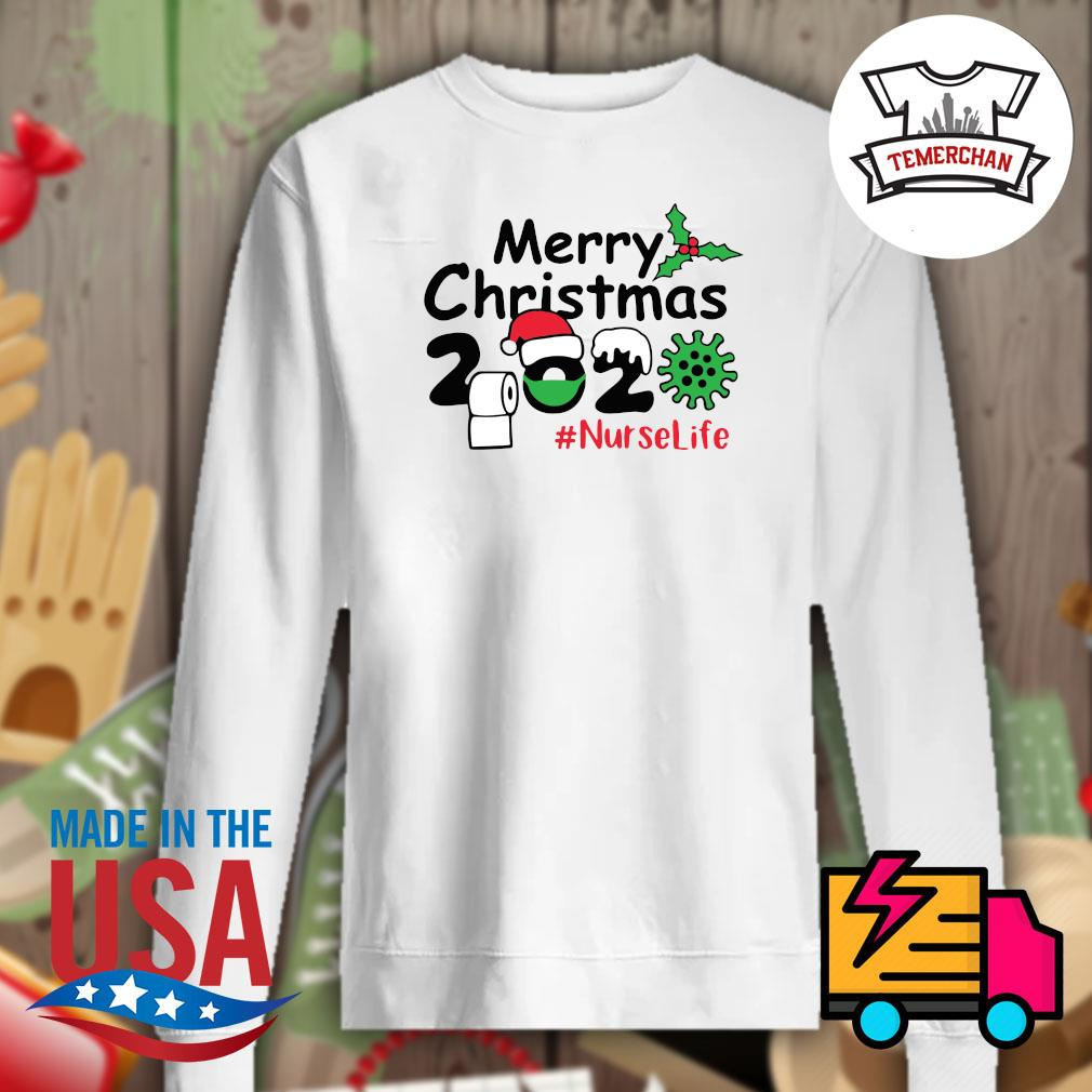 2020 toilet paper Coronavirus Merry Christmas Nurse life s Sweater