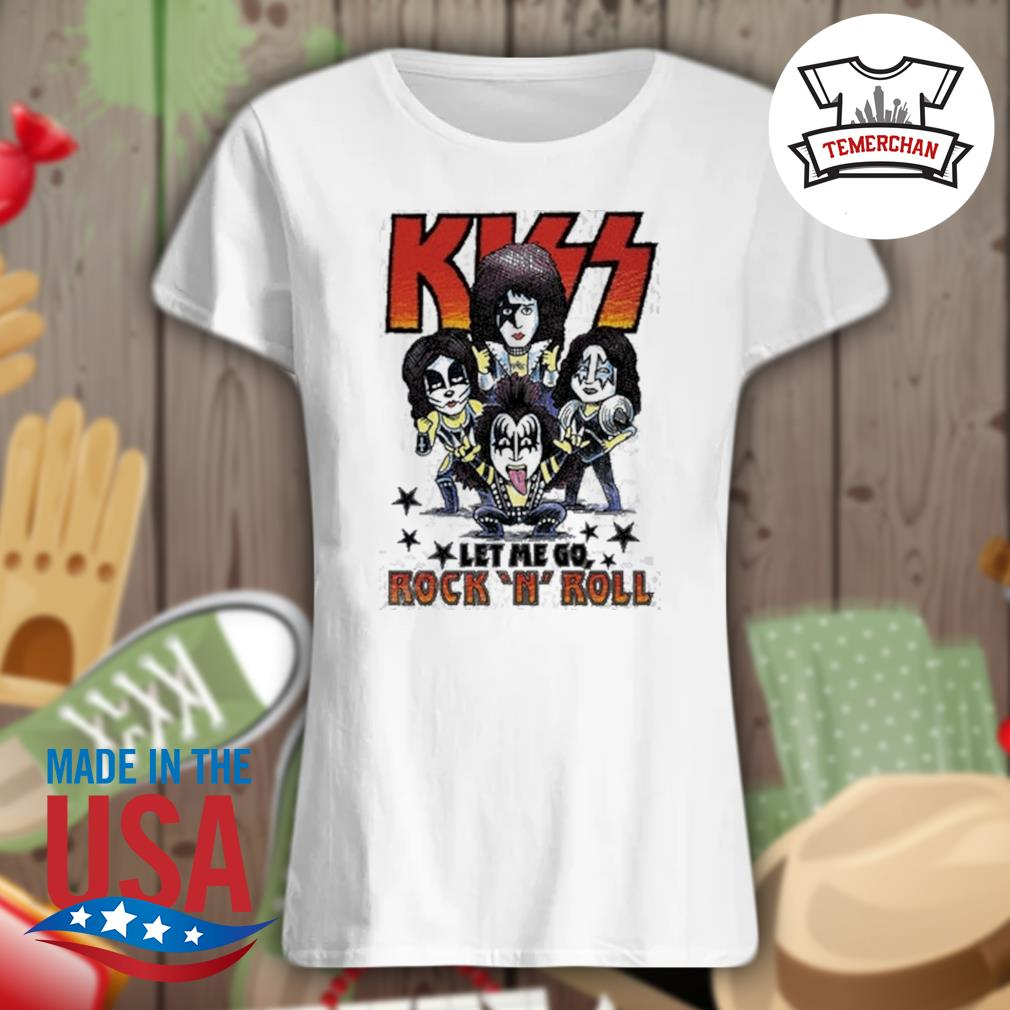 Amplified Kiss chibi let me go Rock 'N' Roll s Ladies t-shirt